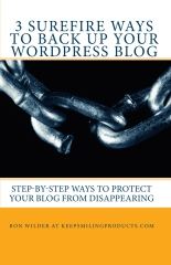 Cover photo for 3 Surefire Ways To Back Up Your WordPress Blog